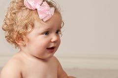 Het meisje van de één éénjarigebaby Stock Foto