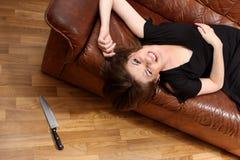 Het meisje van de aantrekkingskracht Stock Foto