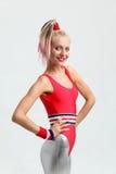 Het meisje van de aerobics Royalty-vrije Stock Foto's