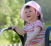 Het meisje van de baby Stock Foto's