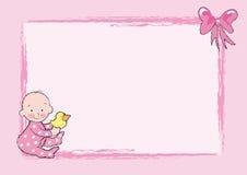 Het meisje van de baby royalty-vrije illustratie