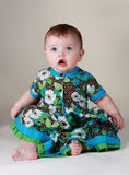 Het meisje van de baby - 6 maanden Royalty-vrije Stock Afbeelding
