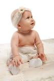 Het meisje van de baby in broek royalty-vrije stock afbeelding