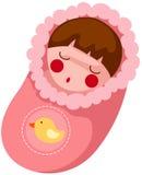Het meisje van de baby in de omslag stock illustratie