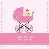 Het meisje van de baby in een auto Royalty-vrije Stock Afbeeldingen