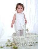 Het Meisje van de baby en het Piepgeluid! stock afbeeldingen