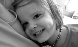 Het meisje van de baby in halsband Royalty-vrije Stock Afbeeldingen