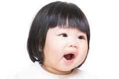Het meisje van de baby het gillen Stock Foto