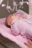 Het meisje van de baby het lachen stock afbeelding