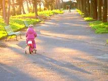 Het meisje van de baby in het park Stock Foto