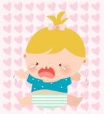 Het meisje van de baby het schreeuwen Royalty-vrije Stock Afbeeldingen