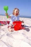 Het meisje van de baby jubelt Stock Afbeeldingen