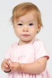 Het Meisje van de baby in Kleding Stock Foto's