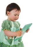 Het meisje van de baby met boek royalty-vrije stock afbeelding