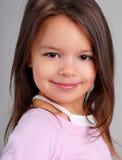 Het meisje van de baby met bruin haar royalty-vrije stock fotografie