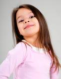 Het meisje van de baby met bruin haar stock foto's
