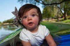 Het Meisje van de baby met Vleugels Royalty-vrije Stock Fotografie