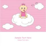 Het meisje van de baby op een wolk Royalty-vrije Stock Afbeeldingen