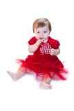 Het meisje van de baby in rood Royalty-vrije Stock Afbeelding