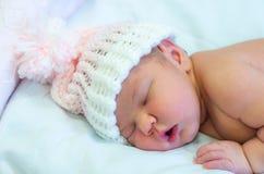 Het meisje van de baby in roze Stock Foto