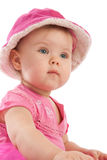Het meisje van de baby in roze royalty-vrije stock foto