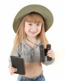 Het meisje van de baby - toerist Stock Afbeeldingen
