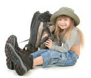 Het meisje van de baby - toerist Stock Afbeelding