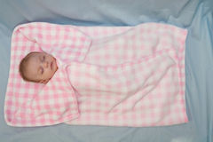 Het Meisje van de Baby van de slaap Royalty-vrije Stock Afbeelding