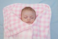 Het Meisje van de Baby van de slaap Royalty-vrije Stock Fotografie