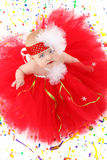 Het Meisje van de Baby van de tutu stock foto's