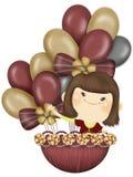 Het meisje van de ballon Royalty-vrije Stock Foto's