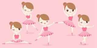 Het meisje van de beeldverhaalballerina royalty-vrije illustratie