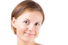 Het meisje van de behandeling met echte glimlach Stock Fotografie