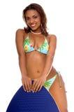 Het Meisje van de Bikini van Skimboard royalty-vrije stock foto