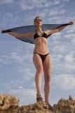 Het meisje van de bikinimanier Stock Afbeelding