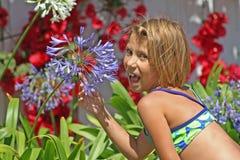 Het Meisje van de bloem Royalty-vrije Stock Foto's