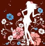 Het meisje van de bloem stock illustratie