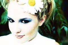Het meisje van de bloem Stock Afbeeldingen
