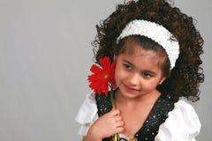 Het Meisje van de bloem Stock Foto's
