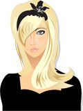 Het meisje van de blonde Stock Foto's