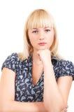 Het meisje van de blonde royalty-vrije stock afbeeldingen
