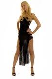 Het meisje van de blonde in avondjurk Royalty-vrije Stock Foto