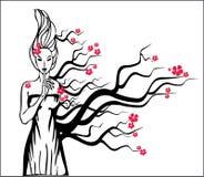 Het meisje van de boom Stock Illustratie