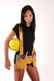 Het meisje van de bouwer Stock Fotografie