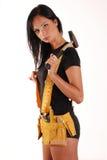 Het meisje van de bouwer Stock Afbeeldingen