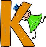 Het meisje van de brief K royalty-vrije illustratie