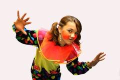 Het meisje van de clown Royalty-vrije Stock Foto