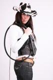 Het meisje van de cowboy Stock Foto's