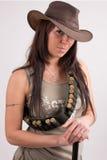 Het meisje van de cowboy Stock Foto