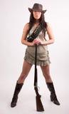 Het meisje van de cowboy Royalty-vrije Stock Foto's